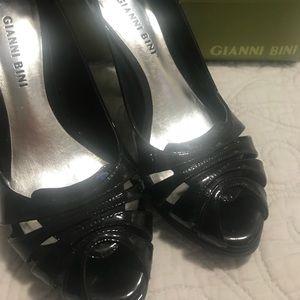Gianni Bini Black Patent Leather Heels